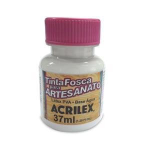 Tinta Fosca para Artesanato 37 Ml Acrilex - Branco - BRANCO FOSCO
