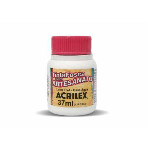 Tinta Fosca para Artesanato Acrilex 37 Ml Branco 519