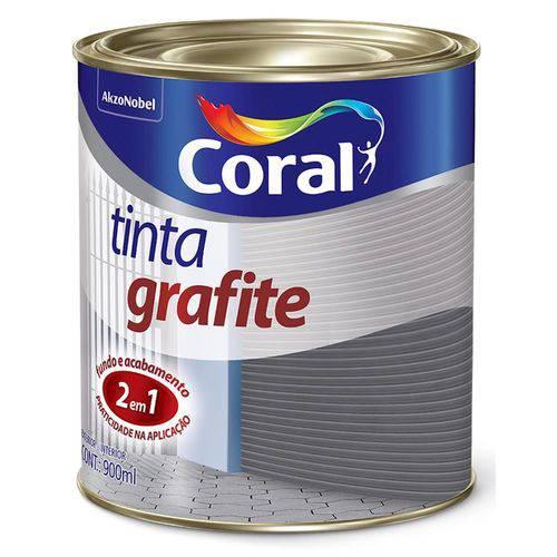 Tudo sobre 'Tinta Grafite Sintética Fosca Escuro 900ml - CORAL'