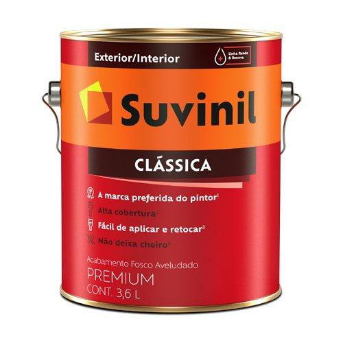 Tinta Látex Fosco Branco Clássica Suvinil 3,6l