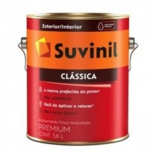 Tinta Látex Fosco Clássica Maxx Premium Branco Neve 3,6l Suvinil