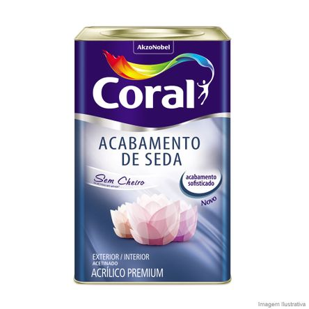 Tudo sobre 'Tinta Latex Premium Seda 18 Litros Branco Coral'