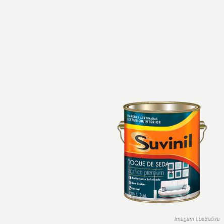 Tinta Látex Toque de Seda Acrílica 3,6 Litros Branco Suvinil