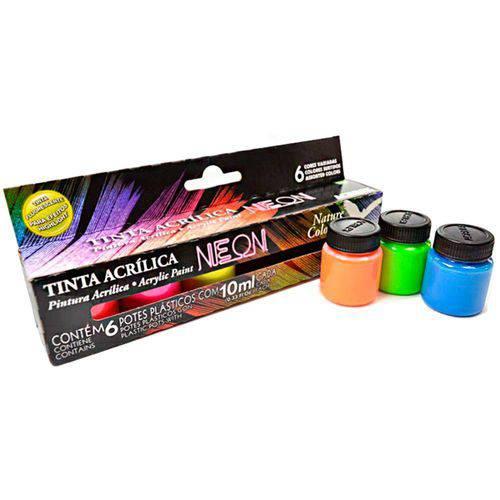 Tinta Nature Colors Neon - 6 Cores