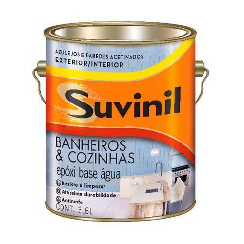 Tinta para Banheiro e Cozinha Acetinada 3,6 Litros Branco Suvinil