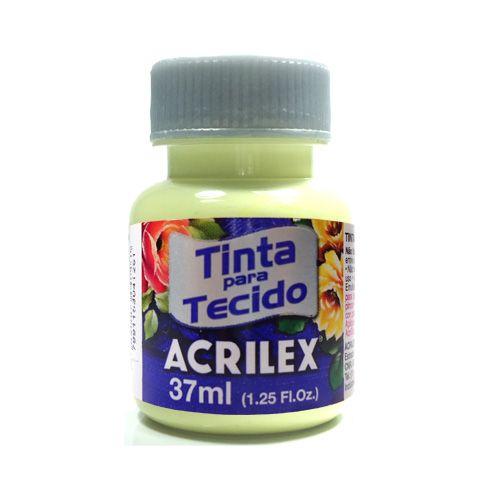 Tinta para Tecido Acrilex Fosca 37ml - 808-AMARELO BE.