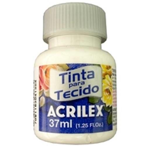Tinta para Tecido Acrilex Fosca 37ml Branco
