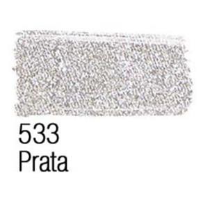 Tinta para Tecido Acrilex Metalica -533-Prata