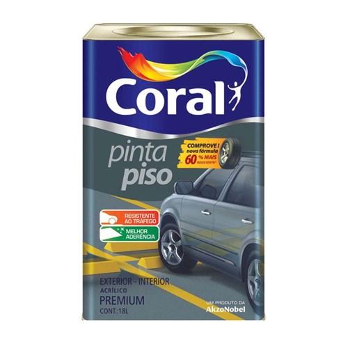Tinta Pinta Piso Fosco Preto 18L Coral Coral
