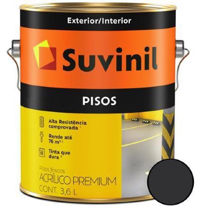 Tinta Piso Acrílica Premium Preto 3,6L Suvinil
