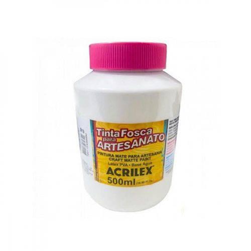 Tinta Plástica PVA - 500ml - Branco - 519 - Acrilex