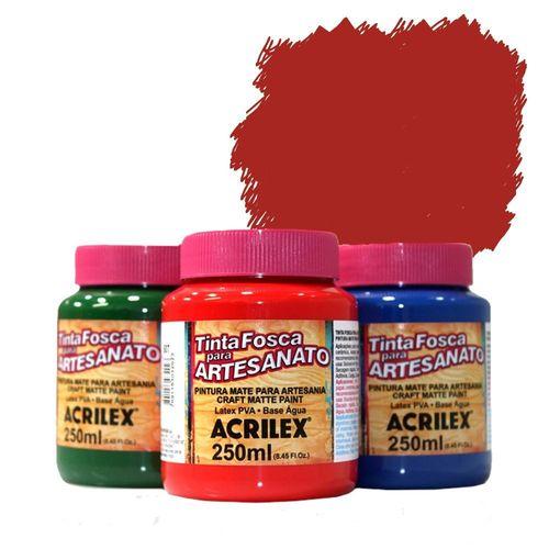 Tinta Plástica PVA 250ml Vermelho Escarlate - 508 - Acrilex