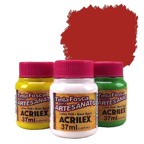 Tinta Plástica PVA 37ml Vermelho Escarlate - 508 - Acrilex