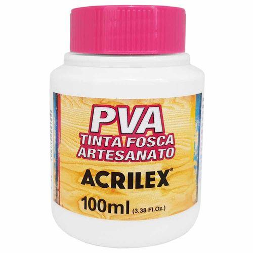 Tinta PVA Fosca 100ml 519 Branco Acrilex 996067