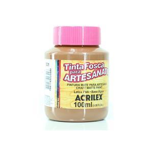 Tinta PVA Fosca para Artesanato 100ml - Acrilex - 531 - Marrom