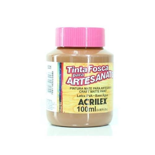 Tinta PVA Fosca para Artesanato 100ml - Acrilex - 531-MARROM