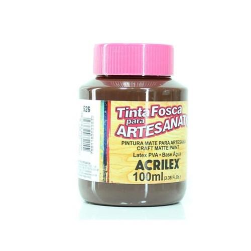 Tinta PVA Fosca para Artesanato 100ml - Acrilex - 526-MARROM
