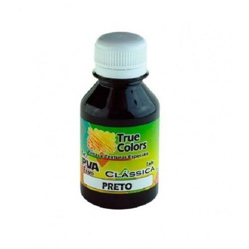 Tinta PVA Fosca True Colors 100ML PRETO