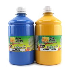 Tinta PVA para Artesanato Fosca 500ml Cores Escuras - True Colors 7100 - AMARELO GEMA