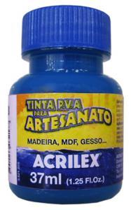 Tinta Pva Plástica 37ml Azul Turquesa 501 Acrilex - 1
