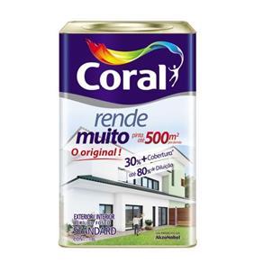 Tinta Rende Muito Acrílico Branco 18L Coral