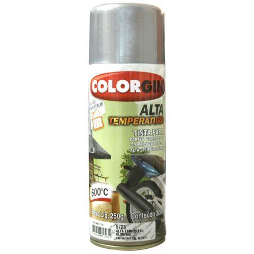 Tinta Spray Alta Temperatura 5723 Aluminio 250gr Colorgin