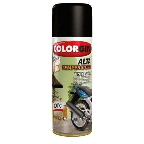 Tinta Spray Alta Temperatura 5722 Preto 250gr Colorgin