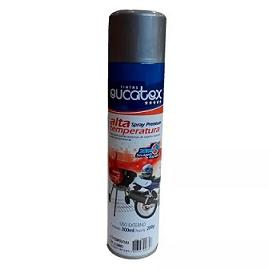 Tinta Spray Alta Temperatura Aluminio 300ml Eucatex