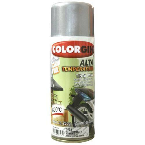Tinta Spray Aluminio 5722 Alta Temperatura 600° Colorgin