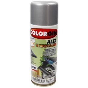 Tinta Spray Alumínio Alta Temperatura 300ml Colorgin