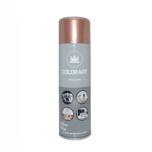 Tudo sobre 'Tinta Spray Colorart Metalico Ouro Rose'