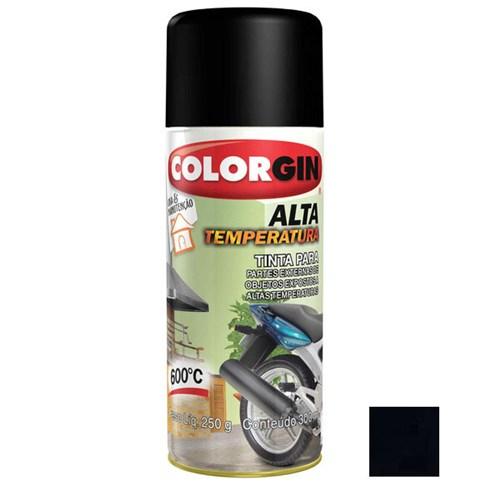Tinta Spray Fosco Alta Temperatura Preto Fosco 300ml Colorgin