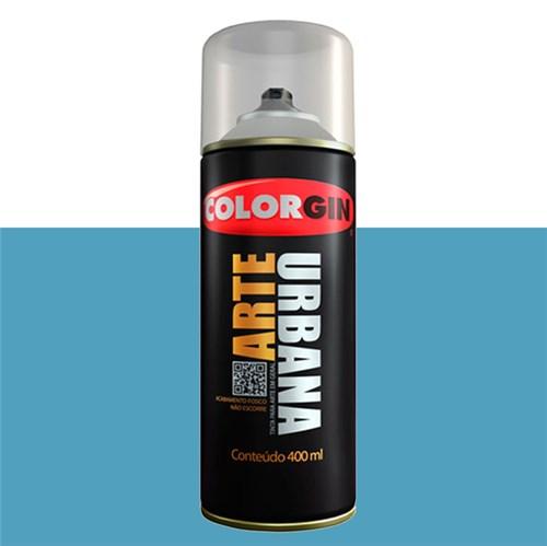 Tinta Spray Fosco Arte Urbana Azul Céu 400ml Colorgin
