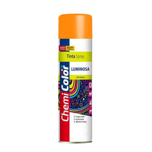 Tinta Spray Luminosa Laranja 400ml Chemicolor