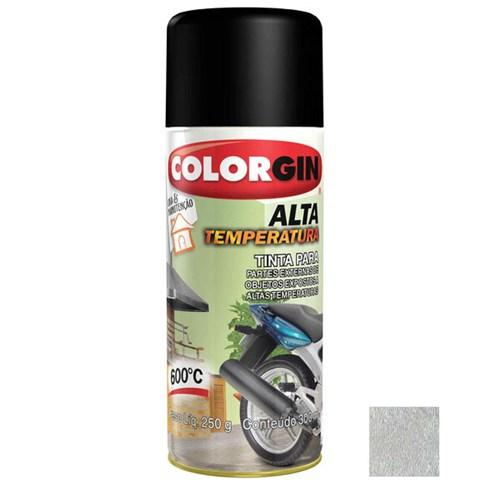 Tinta Spray Metálico Alta Temperatura Alumínio 300ml Colorgin
