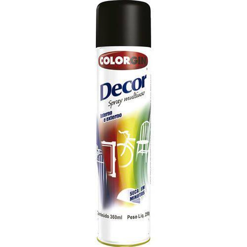 Tudo sobre 'Tinta Spray Preto Brilhante Decor 8701 Colorgin'