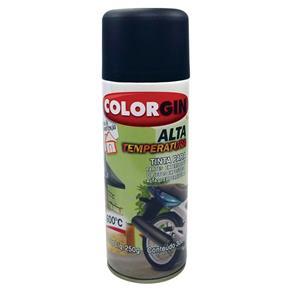 Tinta Spray Uso Geral Alta Temperatura 300Ml Preto Fosco Colorgin
