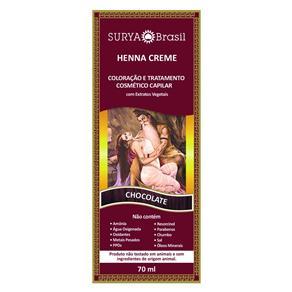 Tintura Creme Henna Surya Chocolate 70ml