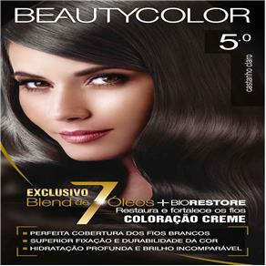 Tintura Permanente Beauty Color 5.0 Castanho Claro