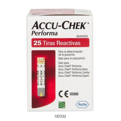 Tudo sobre 'Tiras Accu-Chek Performa Roche C/ 25 Unidades'