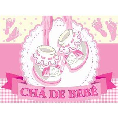 Tnt Estampado Chá de Bebe Rosa