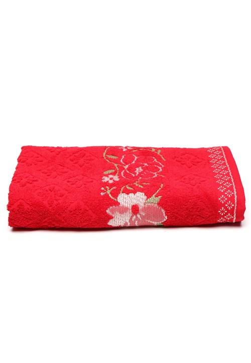 Toalha de Banho Karsten Yuna 70x135cm Vermelha