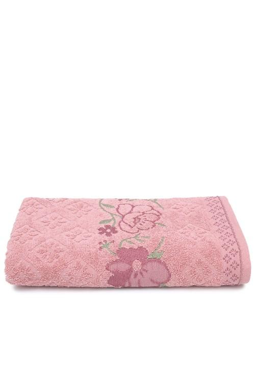 Toalha de Banho Karsten Yuna Fio Cardado 70X135Cm Lady Pink