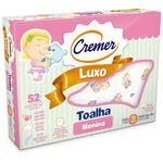 Toalha Fralda Cremer Luxo Estampada Menina 70x120 Cm C/ 3 Un