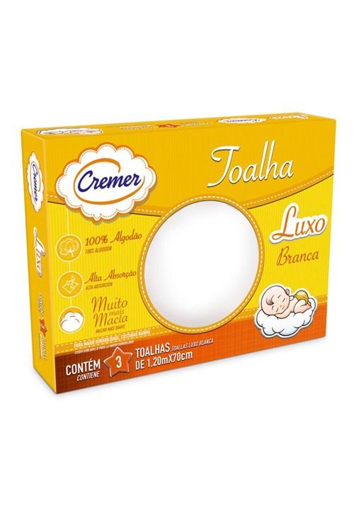 Toalha Fralda Cremer Luxo 3 Pçs Branco