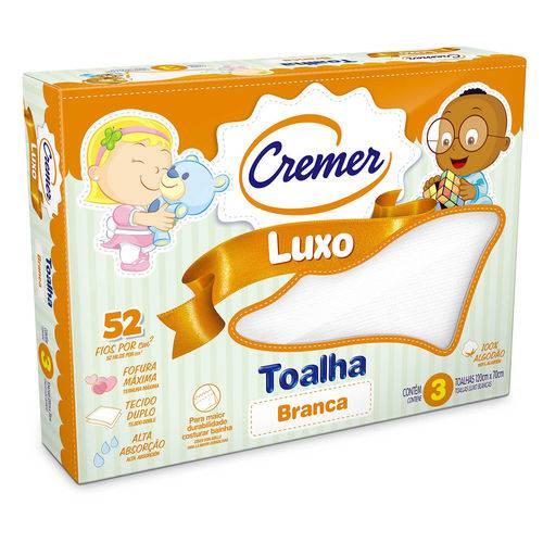 Toalha Luxo Branca Cremer Cx 03 Un