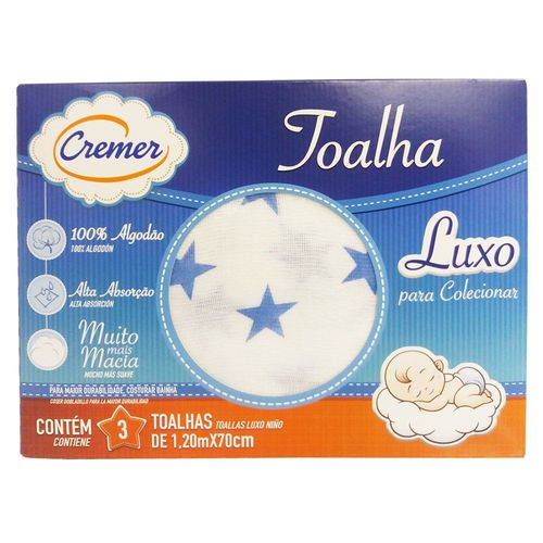 Toalha Luxo Cremer C/3 Unid Est.Masc.