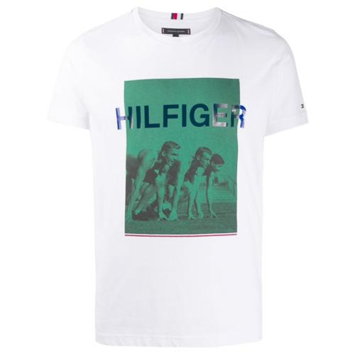 Tommy Hilfiger Camiseta com Estampa - BRANCO