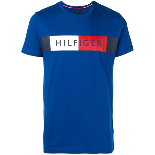 Tommy Hilfiger Camiseta com Logo - Azul