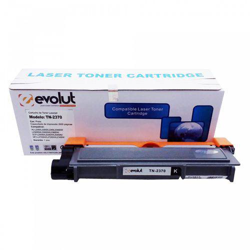 Toner Compatível Brother Tn660 Tn2370 Hl L2300 L2340 L2360 L2365 L2380 L2500 L2520 L2540